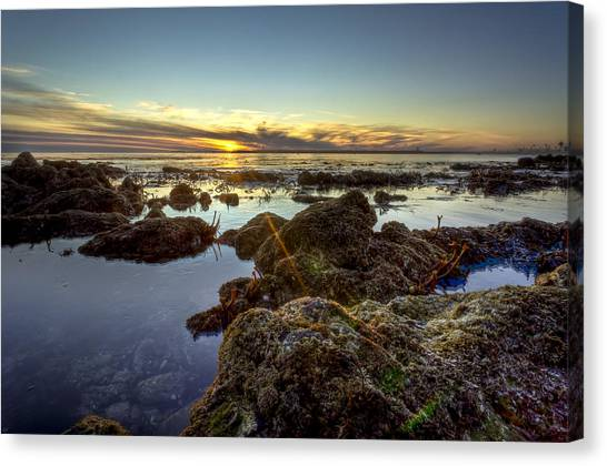 Rocky Sunset Canvas Print by Brian Leon