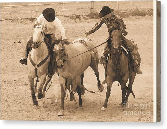 Rodeo Action Canvas Print