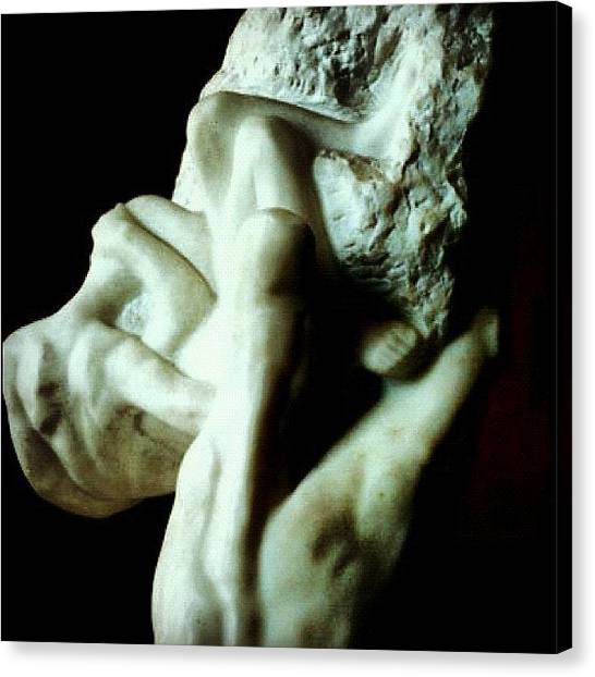 Paris Canvas Print - Rodin's Hand Of God (paris, France) by Natasha Marco