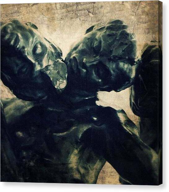 French Canvas Print - Rodin's Les Trois Ombres (paris by Natasha Marco