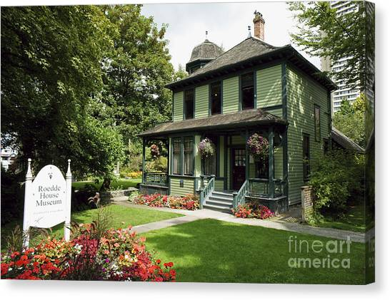 Roedde House Museum Vancouver Canada Canvas Print by John  Mitchell