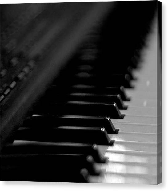 Ivory Canvas Print - #roland #synth #keyboard #piano #music by Toonster The Bold