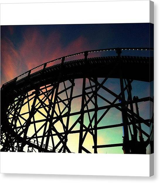 Saints Canvas Print - Rollercoaster And Fairy Floss by Kendall Saint