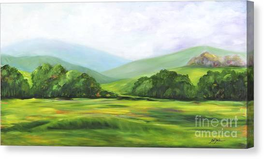 Rolling Hills In Springtime Canvas Print