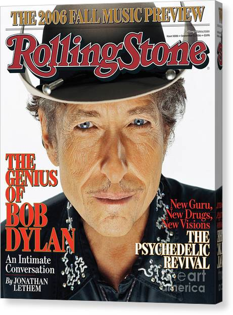 Bands Canvas Print - Rolling Stone Cover - Volume #1008 - 9/7/2006 - Bob Dylan by Matthew Rolston