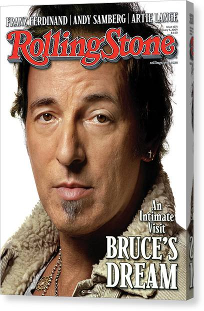 Bruce Springsteen Canvas Print - Rolling Stone Cover - Volume #1071 - 2/5/2009 - Bruce Springsteen by Albert Watson