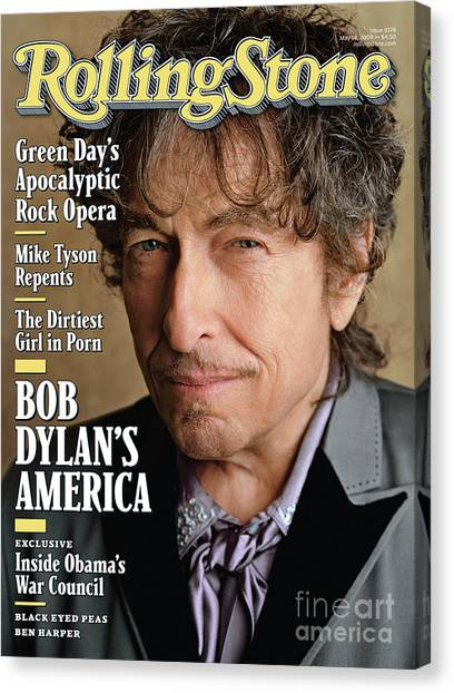 Bob Dylan Canvas Print - Rolling Stone Cover - Volume #1078 - 5/14/2009 - Bob Dylan by Sam Jones