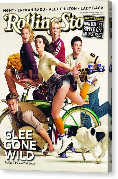 Cast Canvas Print - Rolling Stone Cover - Volume #1102 - 4/15/2010 - Cast Of Glee by Seliger Mark