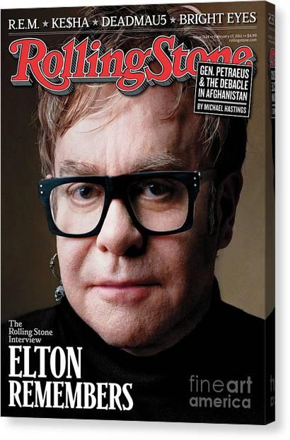 Elton John Canvas Print - Rolling Stone Cover - Volume #1124 - 2/17/2011 - Elton John by Mark Seliger