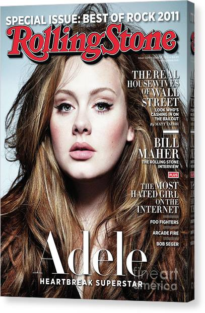 Adele Canvas Print - Rolling Stone Cover - Volume #1129 - 4/28/2011 - Adele by Simon Emmett