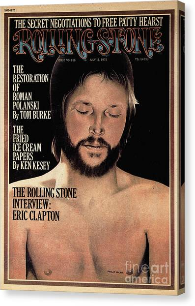 Eric Clapton Canvas Print - Rolling Stone Cover - Volume #165 - 7/18/1974 - Eric Clapton by Philip Hays