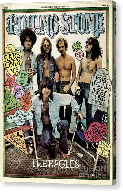 Rolling Stone Cover - Volume #196 - 9/25/1975 - The Eagles Canvas Print by Neal Preston