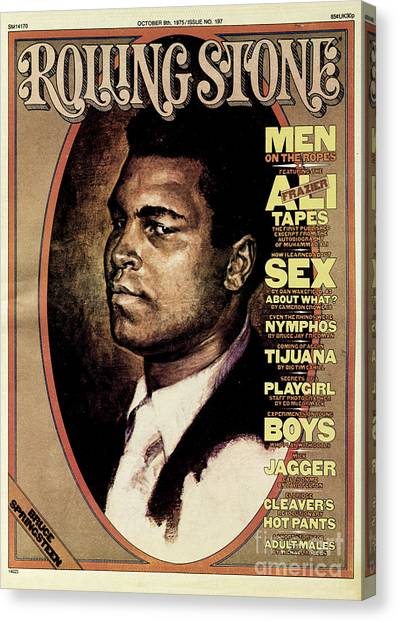 Muhammad Ali Canvas Print - Rolling Stone Cover - Volume #197 - 10/9/1975 - Muhammad Ali by Bruce Wolfe