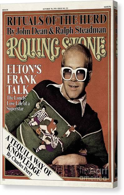 Elton John Canvas Print - Rolling Stone Cover - Volume #223 - 10/7/1976 - Elton John by David Nutter