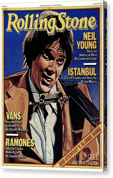 Neil Young Canvas Print - Rolling Stone Cover - Volume #284 - 2/8/1979 - Neil Young by Julian Allen