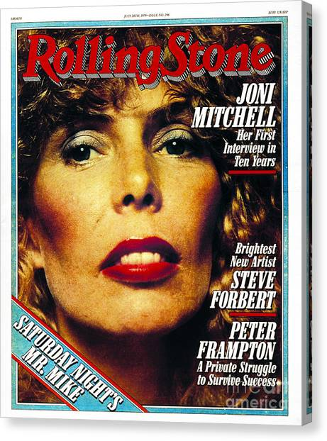 Joni Mitchell Canvas Print - Rolling Stone Cover - Volume #296 - 7/26/1979 - Joni Mitchell by Norman Seeff