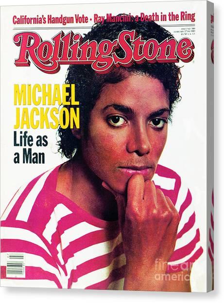 Michael Jackson Canvas Print - Rolling Stone Cover - Volume #389 - 2/17/1983 - Michael Jackson by Bonnie Schiffman