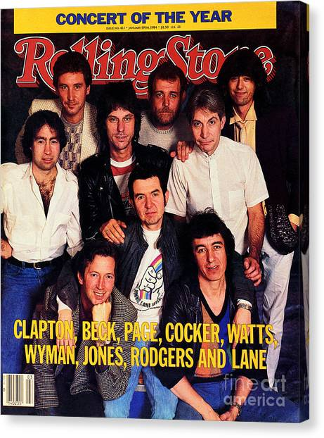Rolling Stone Cover - Volume #413 - 1/19/1984 - Arms Concert Canvas Print by Bonnie Schiffman
