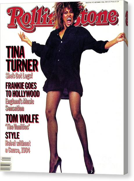 Rolling Stone Cover - Volume #432 - 10/11/1984 - Tina Turner Canvas Print by Steve Meisel