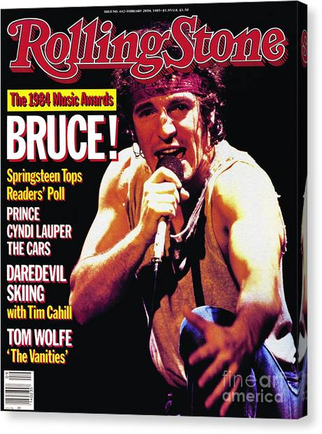 Bruce Springsteen Canvas Print - Rolling Stone Cover - Volume #442 - 2/28/1985 - Bruce Springsteen by Neal Preston