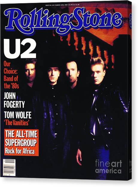 U2 Canvas Print - Rolling Stone Cover - Volume #443 - 3/15/1985 - U2 by Rebecca Blake