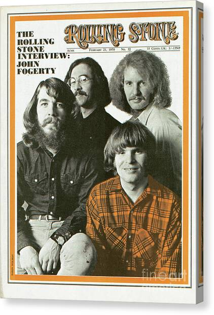 Rolling Stone Cover - Volume #52 - 2/21/1970 - Creedence Clearwater Revival Canvas Print by Baron Wolman