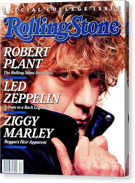 Robert Plant Canvas Print - Rolling Stone Cover - Volume #522 - 3/24/1988 - Robert Plant by David Montgomery