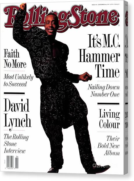 Tool Canvas Print - Rolling Stone Cover - Volume #586 - 9/6/1990 - Mc Hammer by Frank Ockenfels