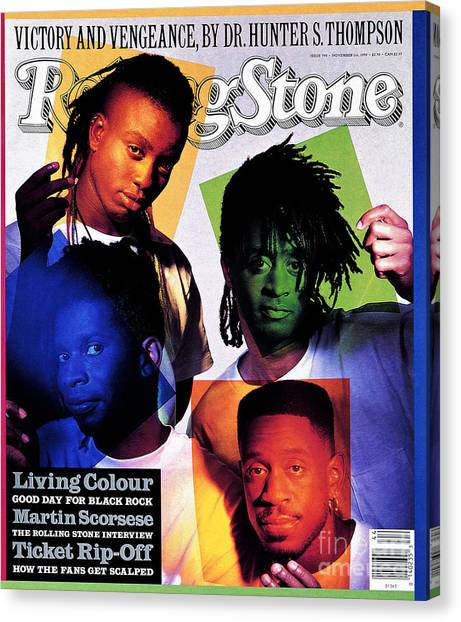 Colour Canvas Print - Rolling Stone Cover - Volume #590 - 11/1/1990 - Living Colour by Mark Seliger
