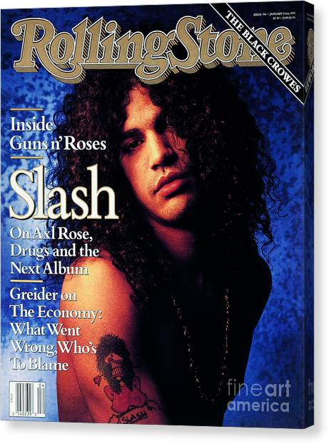 Musicians Canvas Print - Rolling Stone Cover - Volume #596 - 1/24/1991 - Slash by Mark Seliger