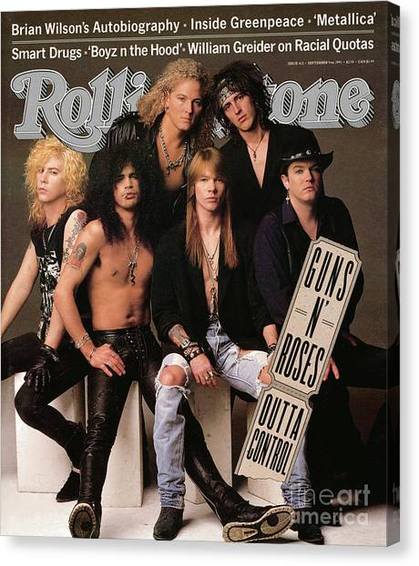 Rock Music Canvas Print - Rolling Stone Cover - Volume #612 - 9/5/1991 - Guns 'n Roses by Herb Ritts