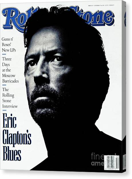Eric Clapton Canvas Print - Rolling Stone Cover - Volume #615 - 10/17/1991 - Eric Clapton by Albert Watson