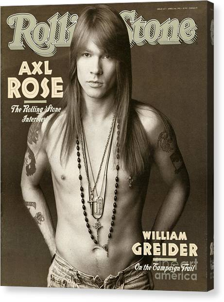 Floral Canvas Print - Rolling Stone Cover - Volume #627 - 4/2/1992 - Axl Rose by Herb Ritts