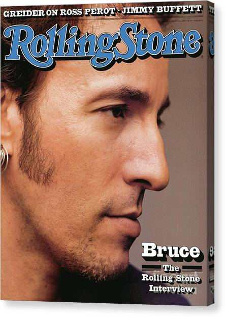 Bruce Springsteen Canvas Print - Rolling Stone Cover - Volume #636 - 8/6/1992 - Bruce Springsteen by Herb Ritts
