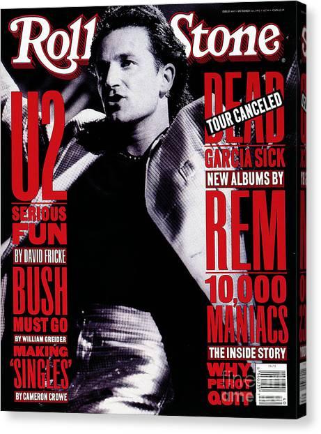 Bono Canvas Print - Rolling Stone Cover - Volume #640 - 10/1/1992 - Bono by Neal Preston