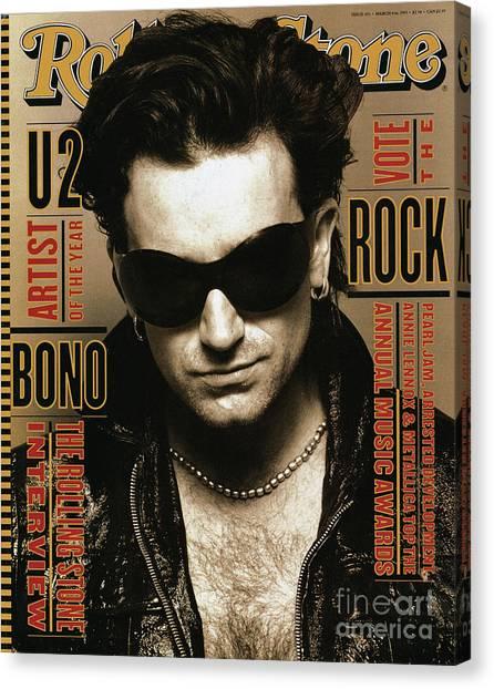 Bono Canvas Print - Rolling Stone Cover - Volume #651 - 3/4/1993 - Bono by Andrew MacPherson