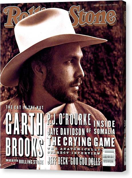 Rolling Stone Cover - Volume #653 - 4/1/1993 - Garth Brooks Canvas Print by Kurt Markus