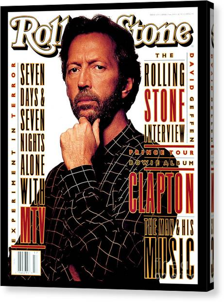 Eric Clapton Canvas Print - Rolling Stone Cover - Volume #655 - 4/29/1993 - Eric Clapton by Albert Watson