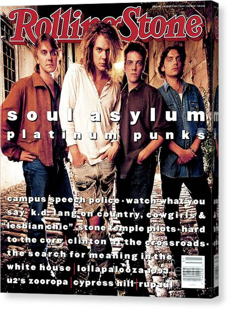 Soul Canvas Print - Rolling Stone Cover - Volume #662 - 8/5/1993 - Soul Asylum by Mark Seliger