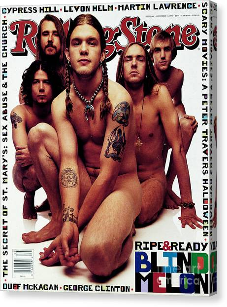 Rolling Stone Cover - Volume #669 - 11/11/1993 - Blind Melon Canvas Print by Mark Seliger
