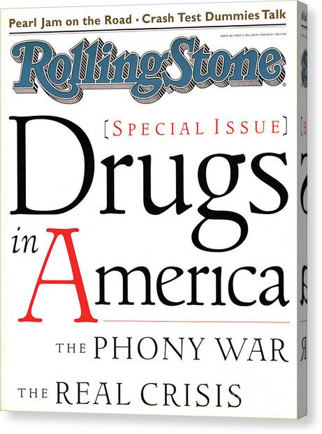 In Canvas Print - Rolling Stone Cover - Volume #681 - 5/5/1994 - Drugs In America by I.P. Daley