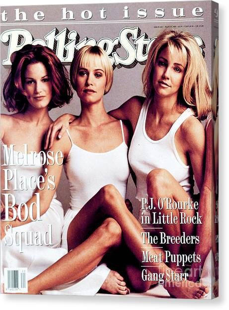 Cast Canvas Print - Rolling Stone Cover - Volume #682 - 5/19/1994 - Cast Of Melrose Place by Mark Seliger