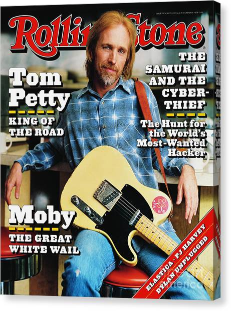 Tom Petty Canvas Print - Rolling Stone Cover - Volume #707 - 5/4/1995 - Tom Petty by Mark Seliger