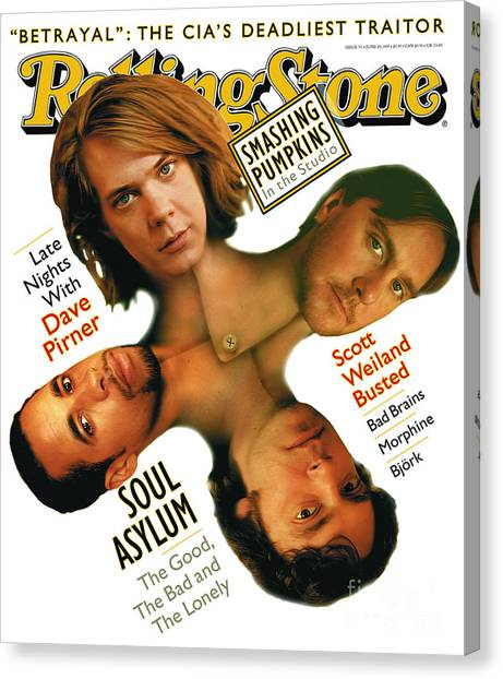 Soul Canvas Print - Rolling Stone Cover - Volume #711 - 6/29/1995 - Soul Asylum by Matt Mahurin