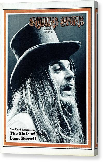 Leon Russell Canvas Print - Rolling Stone Cover - Volume #72 - 12/10/1970 - Leon Russell by Ed Caraeff