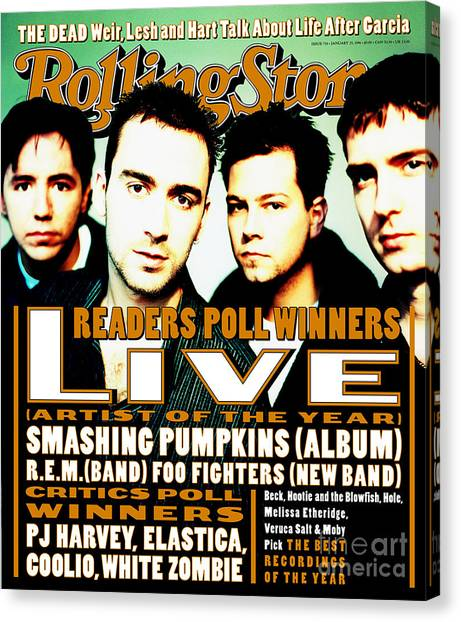 Live Canvas Print - Rolling Stone Cover - Volume #726 - 1/25/1996 - Live by Julian Broad