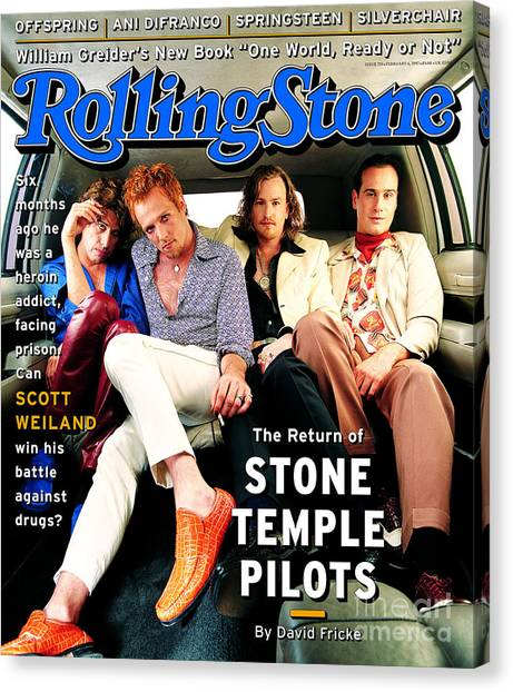 Stone Temple Pilots Canvas Print - Rolling Stone Cover - Volume #753 - 2/23/1997 - Stone Temple Pilots by Mark Seliger