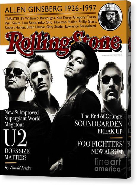 U2 Canvas Print - Rolling Stone Cover - Volume #761 - 5/29/1997 - U2 by Albert Watson
