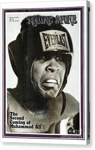 Muhammad Ali Canvas Print - Rolling Stone Cover - Volume #78 - 3/18/1971 - Muhammad Ali by Brian Hamill