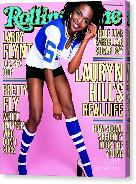 Rolling Hills Canvas Print - Rolling Stone Cover - Volume #806 - 2/18/1999 - Lauryn Hill by Mark Seliger